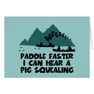 Deliverance,squeal little piggy parody card
