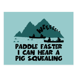 Deliverance,squeal little piggy parody postcard