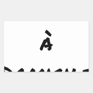DELIVERED TO RESIDENCE - Word games - François Rectangular Sticker
