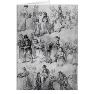 Delivering Dinner, 1841 Card