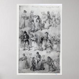 Delivering Dinner, 1841 Poster