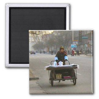 Delivering flat goods 2 inch square magnet