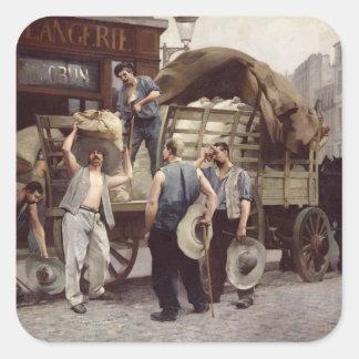 Delivering Flour, 1885 Square Sticker