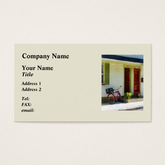 Delivery Bicycle by Two Red Doors Business Card