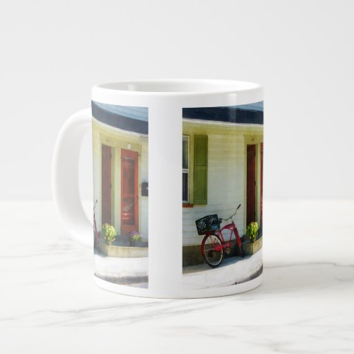 Delivery Bicycle by Two Red Doors Jumbo Mugs