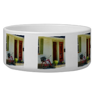 Delivery Bicycle by Two Red Doors Dog Water Bowl