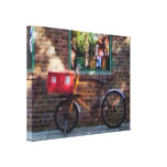 Delivery Bicycle Greenwich Village Stretched Canvas Print