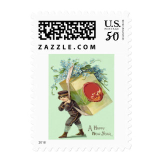 Delivery Boy Forget-Me-Nots Seal Package Postage