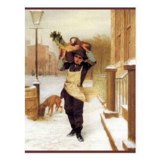 Delivery Boy Postcard