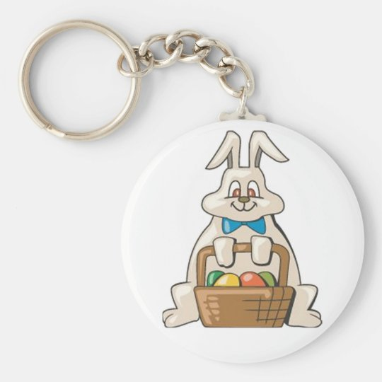 Delivery Bunny Keychain