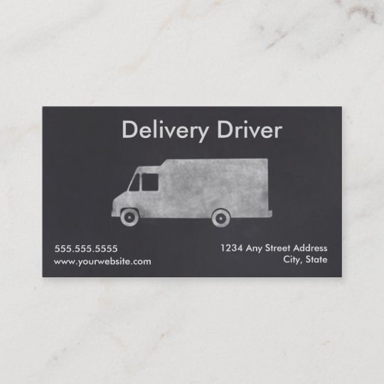Delivery driver business card template zazzle delivery driver business card template reheart Image collections