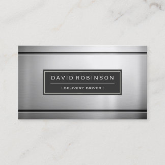 Delivery Driver - Premium Silver Metal Business Card