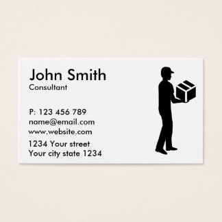 Delivery guy business card