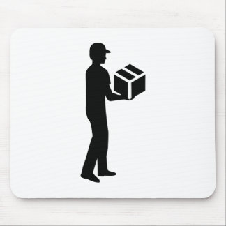 Delivery guy mouse pad