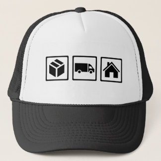 Delivery guy trucker hat