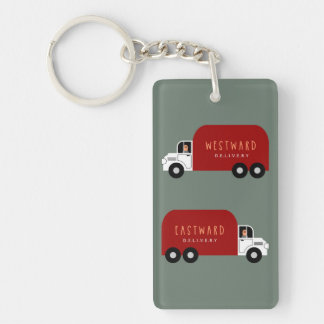 Delivery Double-Sided Rectangular Acrylic Keychain