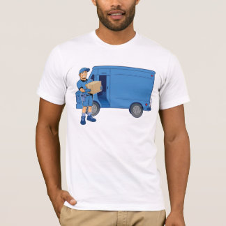 Delivery Man And Van T-Shirt