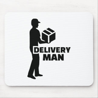 Delivery man mouse pad