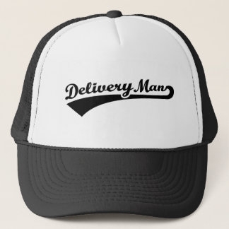 Delivery man trucker hat