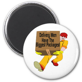 Delivery Men 2 Inch Round Magnet