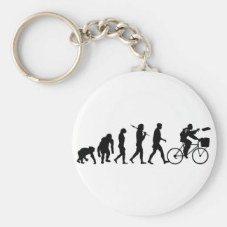 Delivery men and newspaper delivery boys & girls basic round button keychain