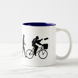 Delivery men and newspaper delivery boys & girls Two-Tone coffee mug