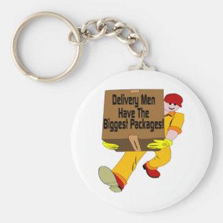 Delivery Men Basic Round Button Keychain