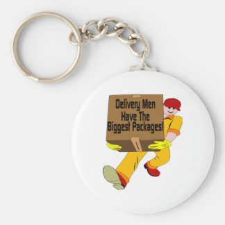 Delivery Men Have The Biggest Packages Basic Round Button Keychain