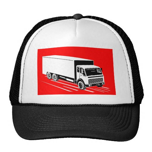 delivery moving truck van lorry mesh hat