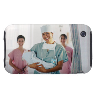 Delivery room nurse holding baby, nurses in iPhone 3 tough cover