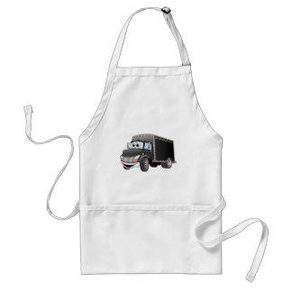 Delivery Truck Black Cartoon Adult Apron