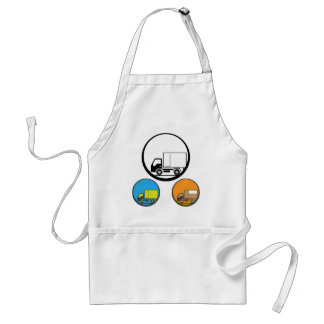 Delivery Truck Icon Vector Adult Apron