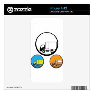 Delivery Truck Icon Vector Decal For iPhone 4