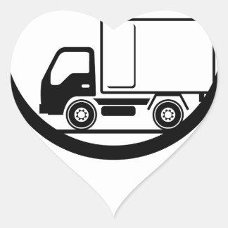 Delivery Truck Icon Vector Heart Sticker