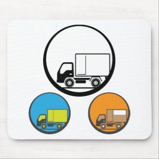 Delivery Truck Icon Vector Mouse Pad