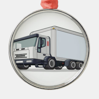 Delivery Truck Metal Ornament