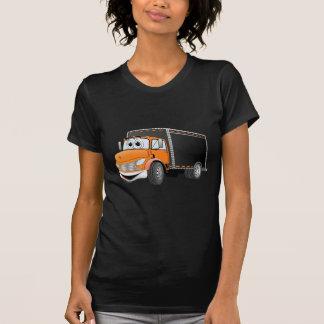 Delivery Truck Orange Black Box Cartoon Shirt