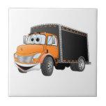 Delivery Truck Orange Black Box Cartoon Tiles