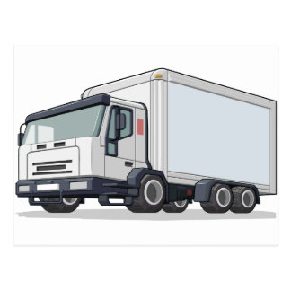 Delivery Truck Postcard
