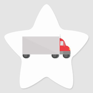 Delivery Truck Star Sticker