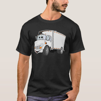 Delivery Truck White Cartoon T-Shirt