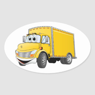 Delivery Truck Yellow Cartoon Stickers
