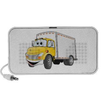 Delivery Truck Yellow White Box Cartoon Laptop Speaker
