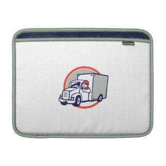 Delivery Van Driver Thumbs Up Circle Cartoon MacBook Air Sleeve