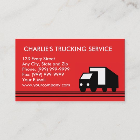 Delivery van lorry transport truck business card zazzle delivery van lorry transport truck business card reheart Image collections
