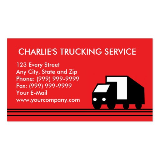 Delivery van lorry transport truck business card template