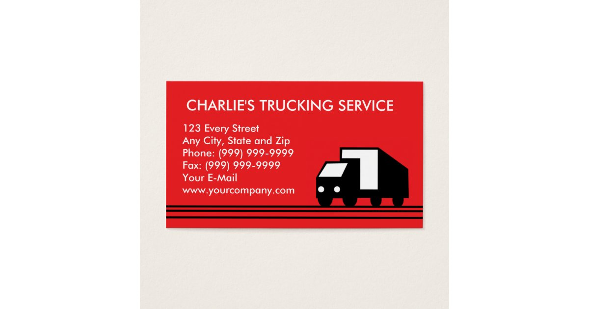 Cargo Truck Business Cards & Templates | Zazzle