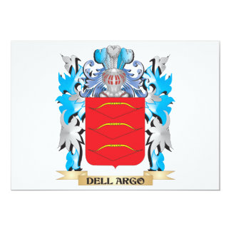 Dell-Argo Coat of Arms - Family Crest 5x7 Paper Invitation Card