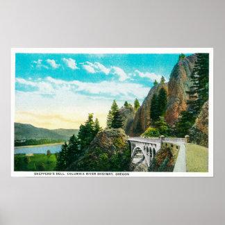 Dell de Shepperd en el río Columbia Impresiones