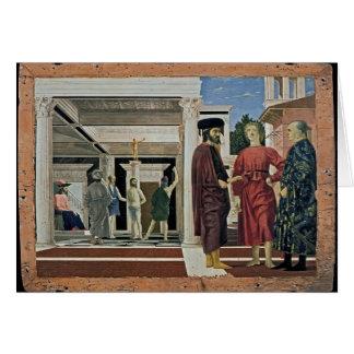 Della Francisca de Piero la flagelación de Cristo Tarjetón
